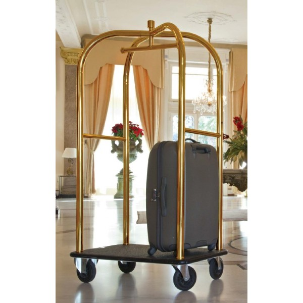 chariot porte bagages en acier inox. Black Bedroom Furniture Sets. Home Design Ideas